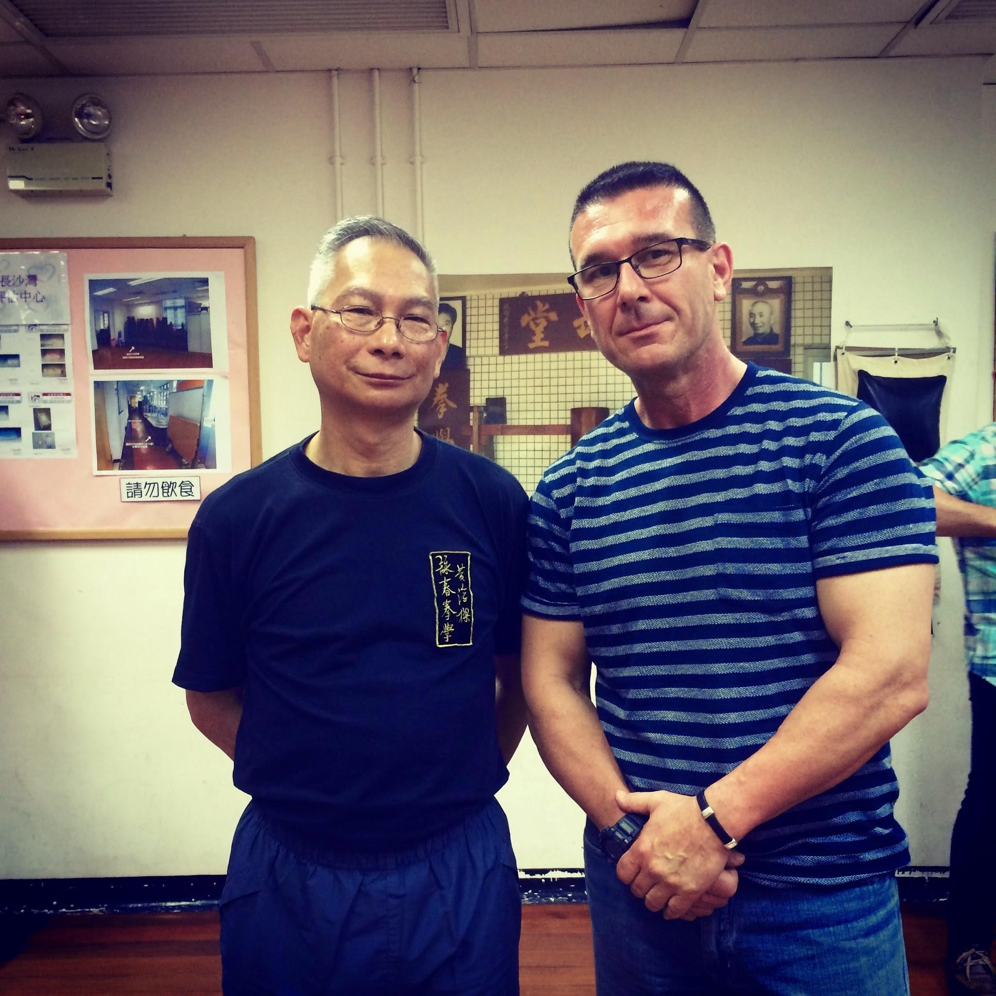 Sifu José C. Casimiro con el G.M Chan Kim Man